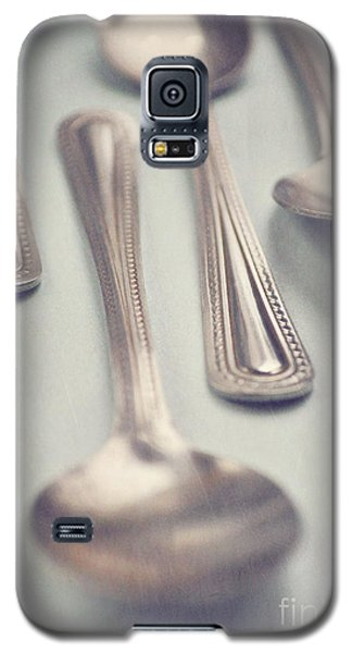 Galaxy S5 Case featuring the photograph Silver Spoons by Lyn Randle