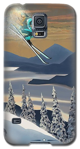 Silver Star Ski Poster Galaxy S5 Case