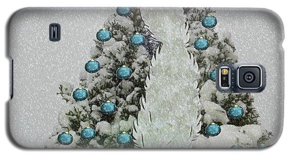 Silver Winter Bird Galaxy S5 Case