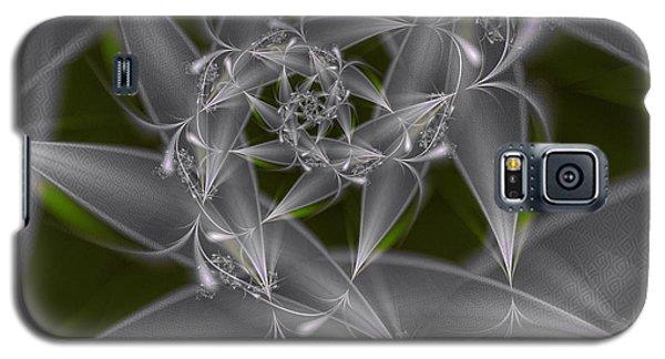 Galaxy S5 Case featuring the digital art Silverleaves by Karin Kuhlmann
