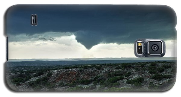 Galaxy S5 Case featuring the photograph Silverton Texas Tornado Forms by James Menzies