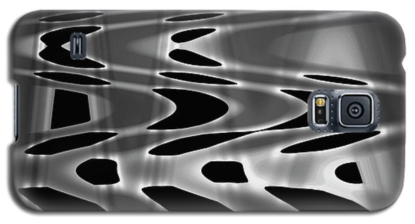 Silvery Abstraction Bw  Galaxy S5 Case