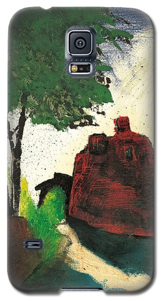 Galaxy S5 Case featuring the painting Simiane La Rotonde by Martin Stankewitz
