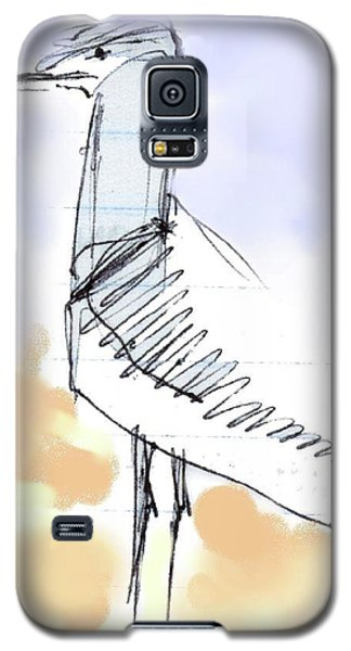 Galaxy S5 Case featuring the drawing Simon by Carolyn Weltman