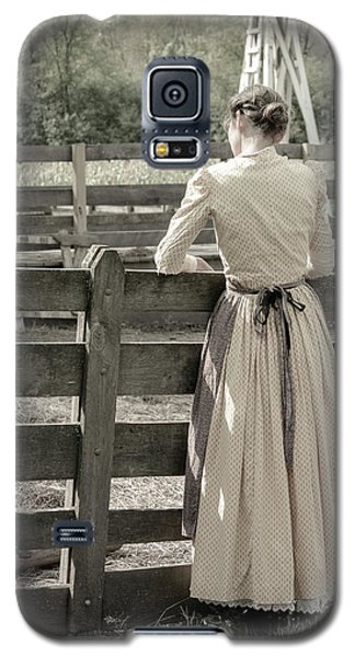 Galaxy S5 Case featuring the photograph Simple Life Girl On Farm by Julie Palencia