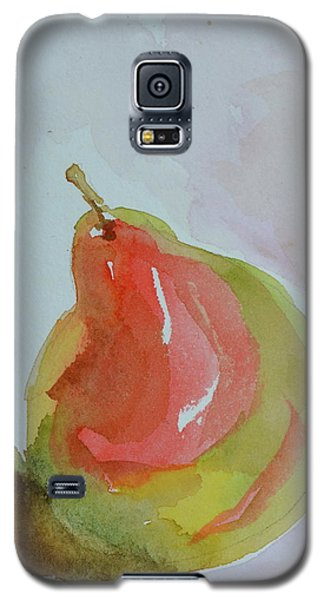 Galaxy S5 Case featuring the painting Simple Pear by Beverley Harper Tinsley