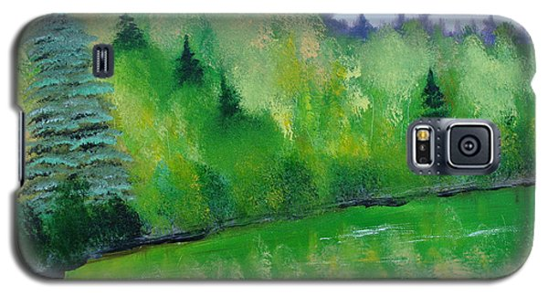 Galaxy S5 Case featuring the painting Simply Green by Rod Jellison