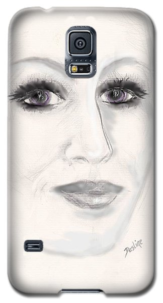 Galaxy S5 Case featuring the drawing Simply Woman by Desline Vitto
