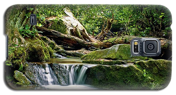 Galaxy S5 Case featuring the photograph Sims Creek Waterfall by Meta Gatschenberger