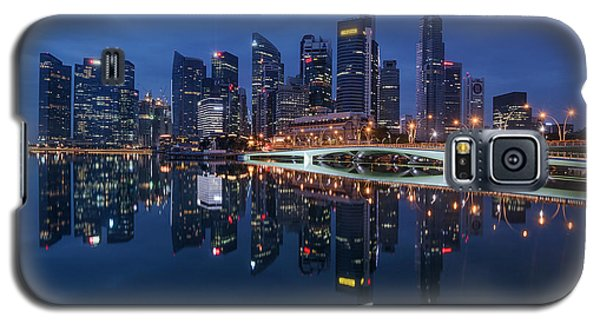 Singapore Skyline Reflection Galaxy S5 Case