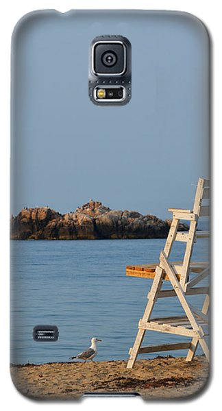 Singing Beach Lifeguard Chair Manchester By The Sea Ma Galaxy S5 Case