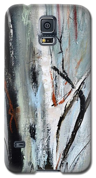 Galaxy S5 Case featuring the painting Single Aspen by Cher Devereaux