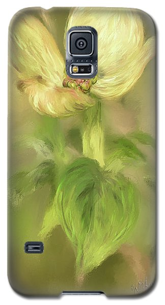 Galaxy S5 Case featuring the digital art Single Dogwood Blossom In Evening Light by Lois Bryan