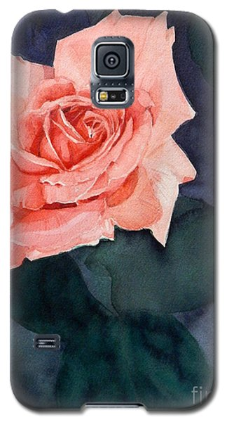 Watercolor Of A Magic Bright Single Red Rose Galaxy S5 Case
