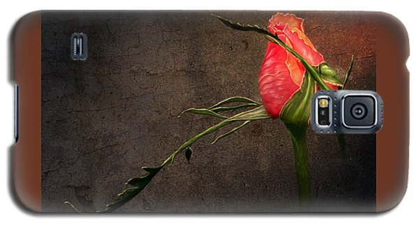 Single Rose Galaxy S5 Case by Ann Lauwers