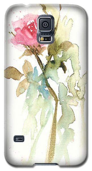 Galaxy S5 Case featuring the painting Single Stem by Sandra Strohschein