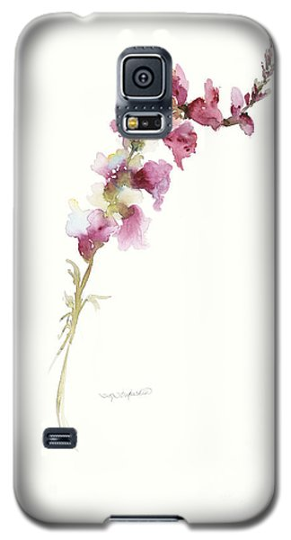 Galaxy S5 Case featuring the painting Single Stem Snapdragon by Sandra Strohschein