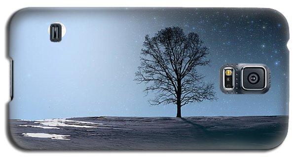 Single Tree In Moonlight Galaxy S5 Case