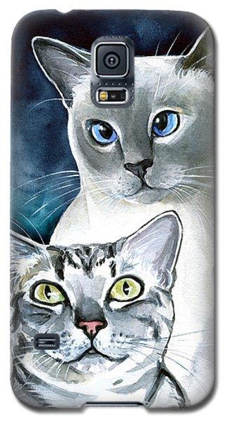 Sini And Nimbus - Cat Portraits Galaxy S5 Case