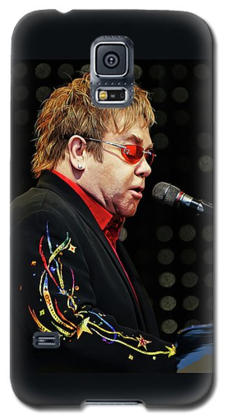 Sir Elton John At The Piano Galaxy S5 Case by Elaine Plesser