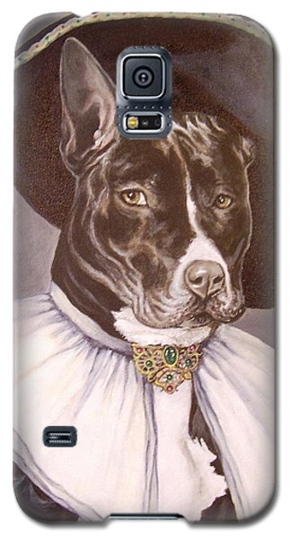 Galaxy S5 Case featuring the painting Sir Pibbles by Laura Aceto