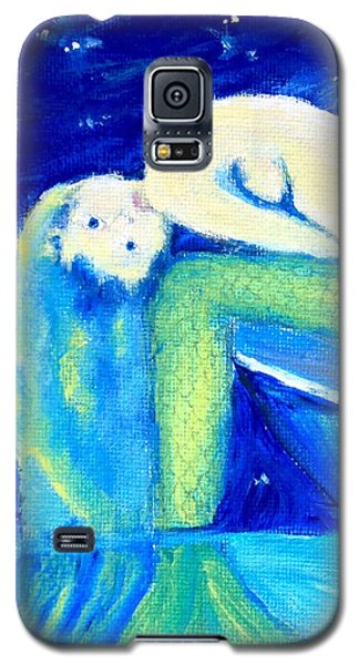 Galaxy S5 Case featuring the painting Siren Sea by Dawn Harrell