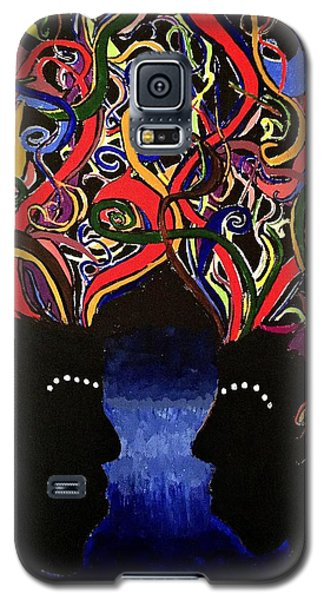 Sis The Twins - Abstract Silhouette Painting - Sisterhood - Abstract Painting  Galaxy S5 Case