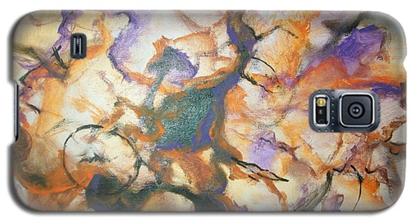 Galaxy S5 Case featuring the painting Sistaz by Raymond Doward