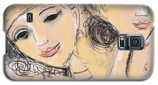 Galaxy S5 Case featuring the digital art Sisters by Elaine Lanoue