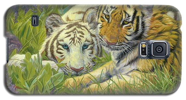 Tiger Galaxy S5 Case - Sisters by Lucie Bilodeau
