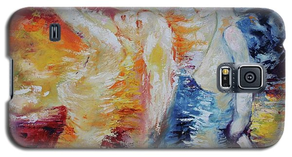 Galaxy S5 Case featuring the painting Sisters by Marat Essex
