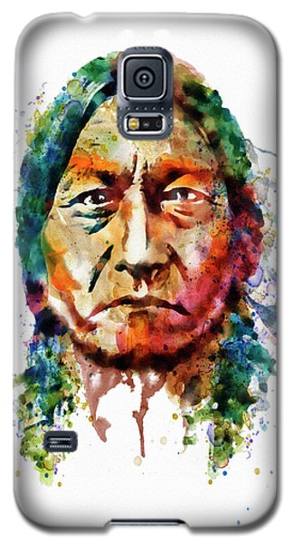 Sitting Bull Watercolor Painting Galaxy S5 Case