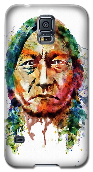 Sitting Bull Watercolor Painting Galaxy S5 Case by Marian Voicu