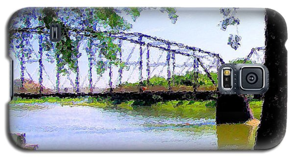 Galaxy S5 Case featuring the photograph Sitting In Fort Benton by Susan Kinney