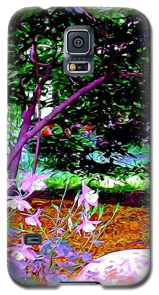 Galaxy S5 Case featuring the painting Sitting In The Shade by Patricia Griffin Brett