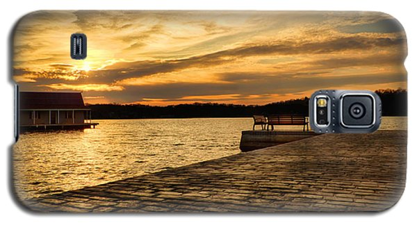 Sitting On The Dock Of The Lake Galaxy S5 Case by Mark Miller