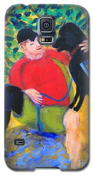 Galaxy S5 Case featuring the painting One Team Two Heroes-4 by Donald J Ryker III
