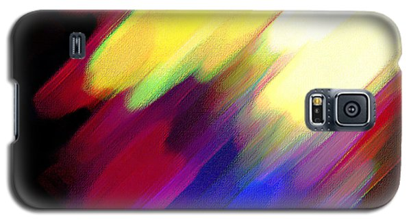 Galaxy S5 Case featuring the painting Sivilia 1 Abstract by Donna Corless