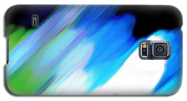 Galaxy S5 Case featuring the painting Sivilia 10 Abstract by Donna Corless