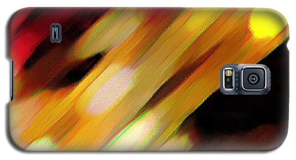 Galaxy S5 Case featuring the painting Sivilia 11 Abstract by Donna Corless