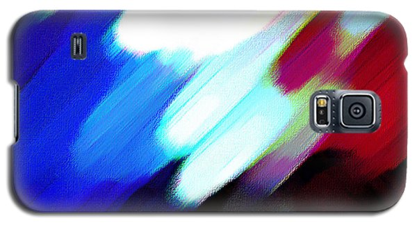 Galaxy S5 Case featuring the painting Sivilia 12 Abstract by Donna Corless