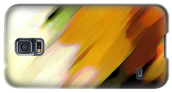 Galaxy S5 Case featuring the painting Sivilia 2 Abstract by Donna Corless
