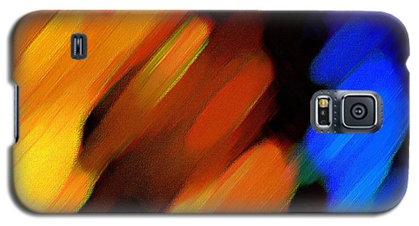 Galaxy S5 Case featuring the painting Sivilia 3 Abstract by Donna Corless