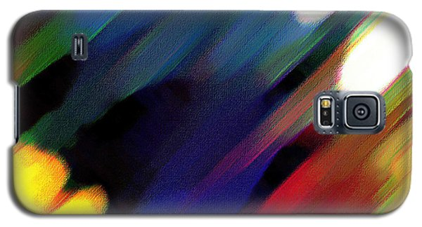 Galaxy S5 Case featuring the painting Sivilia 4 Abstract by Donna Corless
