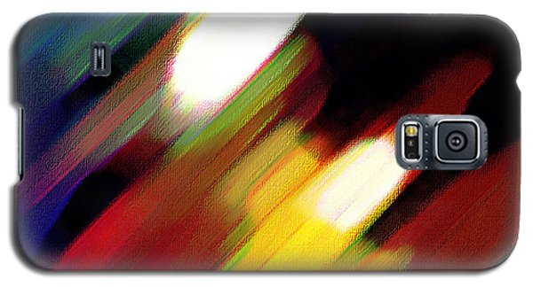 Galaxy S5 Case featuring the painting Sivilia 5 Abstract by Donna Corless
