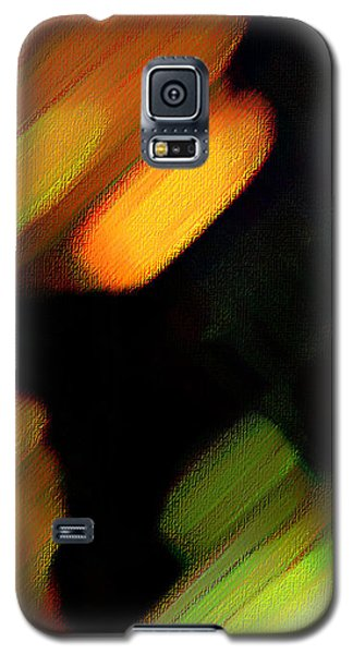 Galaxy S5 Case featuring the painting Sivilia 6 Abstract by Donna Corless