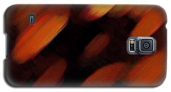 Galaxy S5 Case featuring the painting Sivilia 7 Abstract by Donna Corless