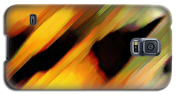 Galaxy S5 Case featuring the painting Sivilia 8 Abstract by Donna Corless