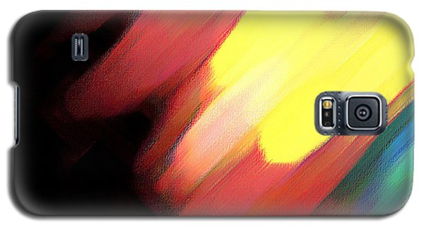 Galaxy S5 Case featuring the painting Sivilia 9 Abstract by Donna Corless