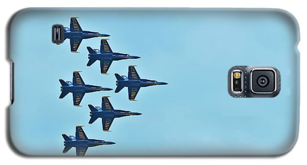Six Blue Angels In The Clear Blue Sky Galaxy S5 Case
